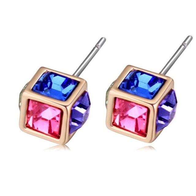 Very Small Stud Earrings Brand Jewelry Austrian Crystal Wedding