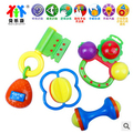 4pcs/set New fashion lovely baby toys colorful plastic children baby toys hand bell rattle music & light juguetes gift for kids