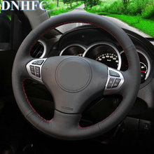 DNHFC Black Artificial Leather Car Steering Wheel Cover For Suzuki Grand Vitara 2007 2013