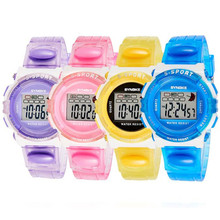 Hot Sale SYNOKE Fashion Candy Color Rubber Digital  Children Watch Boys Girls Sports Led Watches  Wholesale Free Shipping