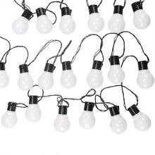 Guirnalda de luces LED para Hada para exteriores, 11M, 38 bombillas G50, para jardín, Patio, boda, Navidad, cadena de luces, resistente al agua