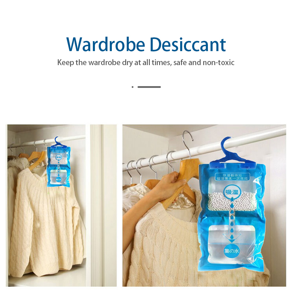 Moisture Absorber 180g Moisture Absorber Wardrobe Cabinet Moldproof Dehumidification Bag Used For Hang Dehumidifier Bag 500ML