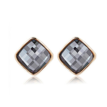 Women's Drop Crystal Earrings Earrings Jewelry Women Jewelry Metal Color: E004 Gray