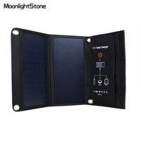 15 W/21 W carga solar portátil Bolsas plegable 5 V cargador al aire libre para teléfono Tablets