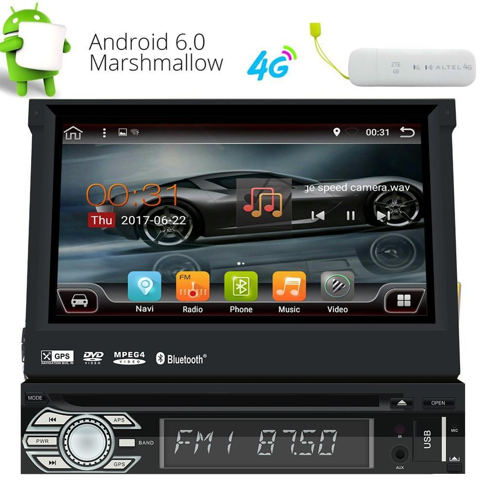 eincar single din android 6 0 quad core touch screen car. Black Bedroom Furniture Sets. Home Design Ideas