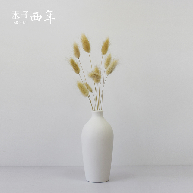 Vase fashion decoration dried flowers small opening white ceramic modern tabletop vase oyster white flower vase Decoration & Vase fashion decoration dried flowers small opening white ceramic ...