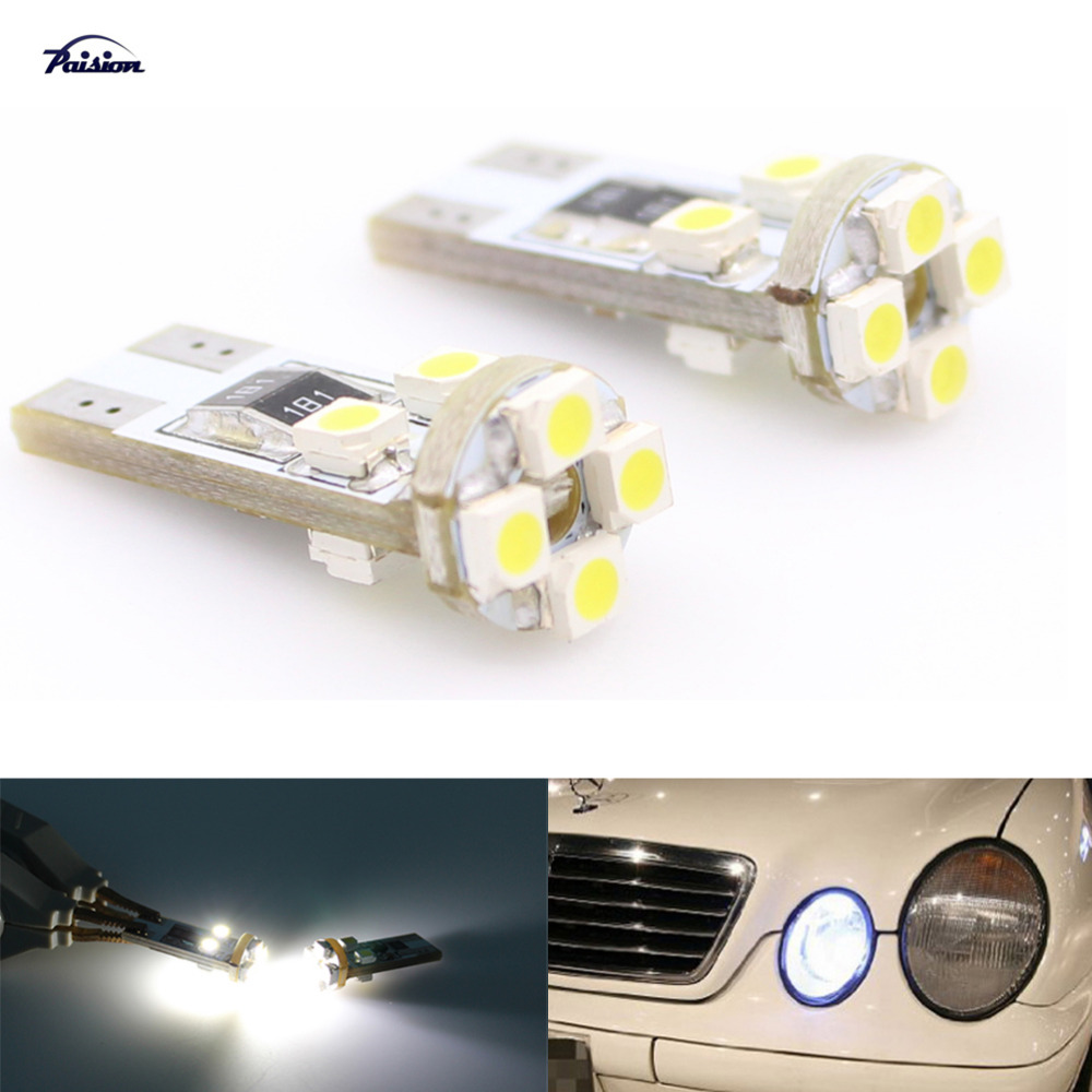 Xenon White T10 8-SMD Error Free Canbus Mercedes LED Parking Lights 1 Piece