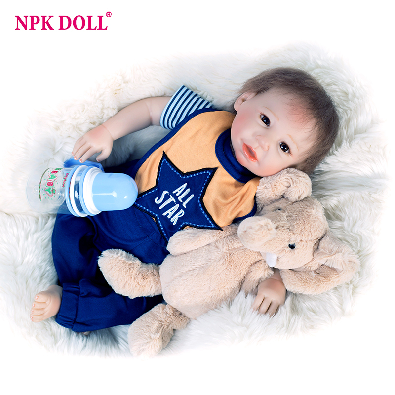 52cm Baby Doll Reborn Asia boy Boneca Baby Reborn Doll Realistic Silicone Vinyl Boy Dolls baby Reborn doll brinquedos warkings reborn