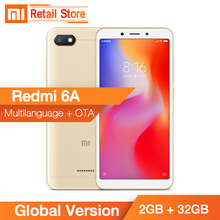 Küresel Sürüm Xiaomi Redmi 6A 2 GB 32 GB Helio A22 Quad Core 5.45 ''18:9 Tam Ekran Cep Telefonu AI Kamera 3000 mAh FCC CE AB Tak