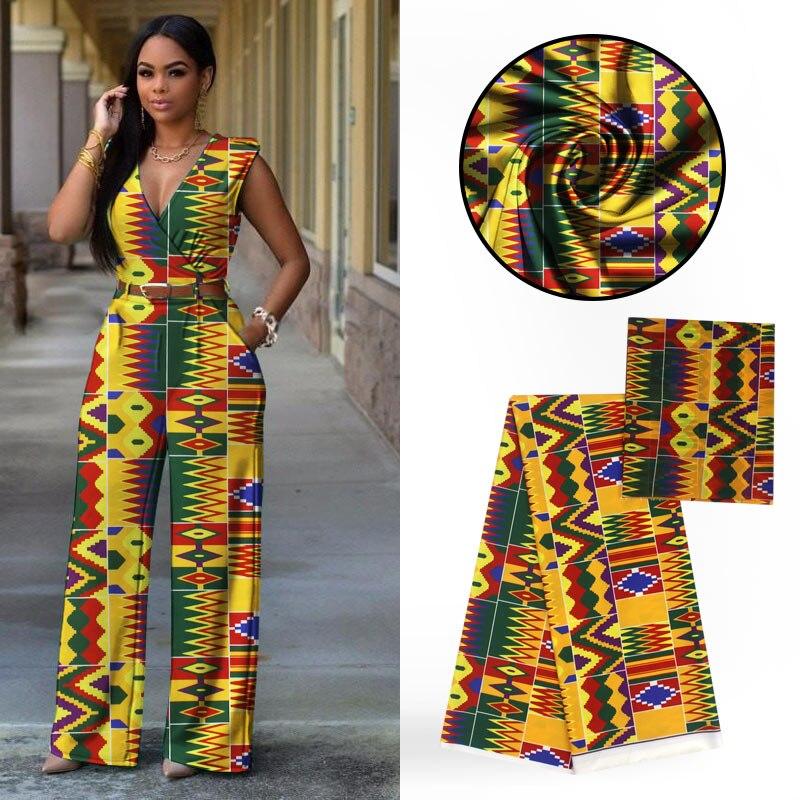 LIULANZHI tissu en mousseline de soie tissu néerlandais (2 yards) avec tissus africains Audel (4 yards) pour robe 6 yards/lot ALL73-80