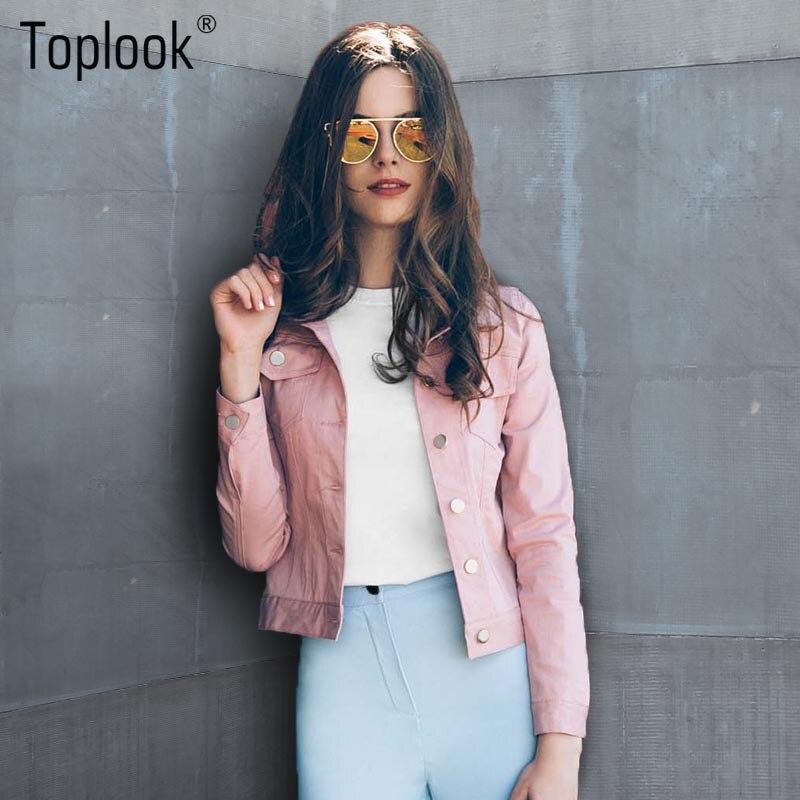 66bc1c5e0 Toplook Pink Suede Jackets Women 2017 New Autumn Winter Long Sleeve ...