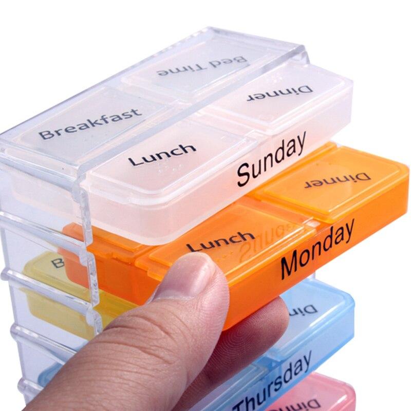 7 días caja de pastillas Tablet clasificador de medicina almacenamiento semanal caja contenedor organizador DC88 5 En 1 medidor de distancia láser telémetro 700M modo de día de niebla + distancia Horizontal + medidor de velocidad telémetro láser de caza