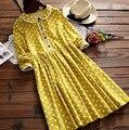 Women Dot Print Preppy Long-sleeve Dress Mori Girl Sweet Cotton Dress Casual Novelty Lolita Dresses Vestidos Tunique Boho Mori