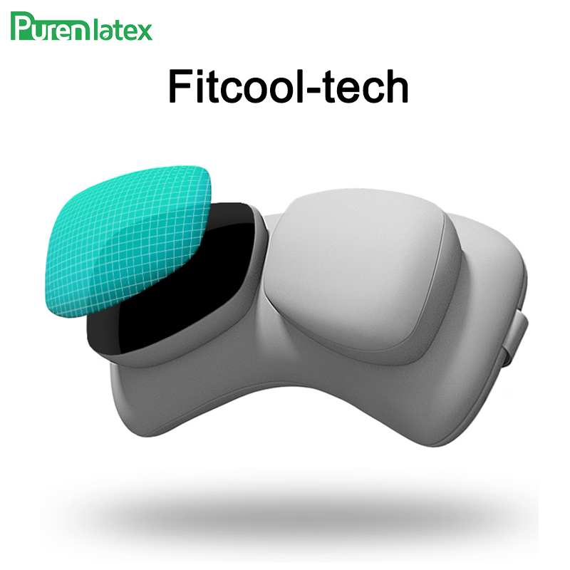 Purenlatex Pillows Auto-Neck-Cushion Partition Neck-Headrest Protect Car 2pcs-Set Universal