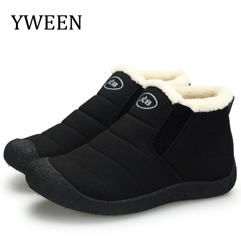 YWEEN New Arrive Mens Boots Winter Warm Snow Boots Men Fashion Plush Cotton Shoes Man Boots Winter Boots Bota Coturnos Masculino