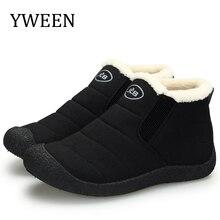YWEEN New Arrive Mens Boots Winter Warm Snow Men Fashion Plush Cotton Shoes Man Bota Coturnos Masculino