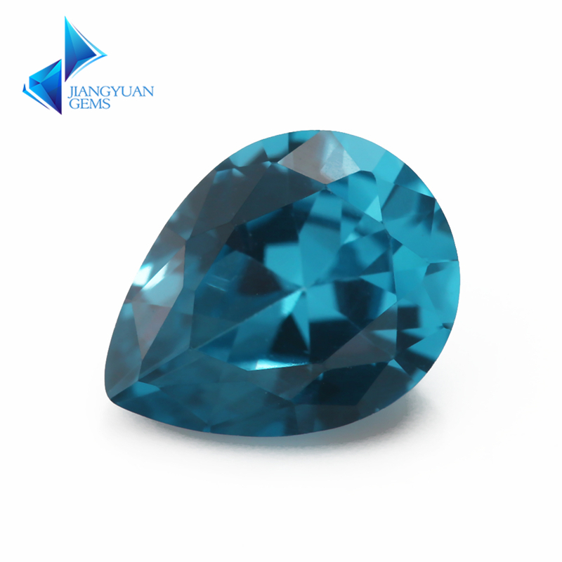 Size 3x5~10x12mm Pear Shape 120# Blue Stone Brilliant Cut Synthetic Spinel Blue Stone For Jewelry