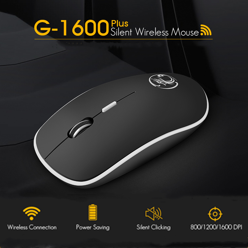 iMice Wireless Mouse Silent Computer Mouse 2.4Ghz 1600 DPI Ergonomic Mause Noiseless USB PC Mice Mute Wireless Mice for Laptop(China)