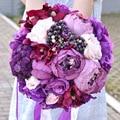 Flores Do Casamento Noivas Bouquets Bouquet de mariage Roxo Artificial Bouquets De Casamento para Noivas bruidsboeket gelin buketi