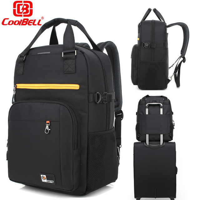 Fashion 17 3 Inch Laptop Bag Multifunction Large Capacity Men Backpack Travel Rucksack Male