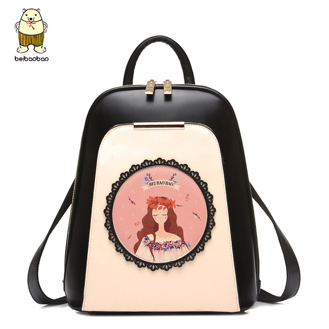6be206450a42 Beibaobao Women Backpack High Quality PU Leather Mochila Escolar School Bags  For Teenagers Girls Top-