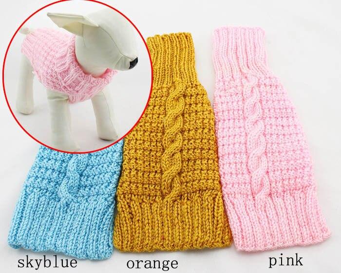 Suéter del perro, hecho a mano tejer suéteres perro, ropa para ...