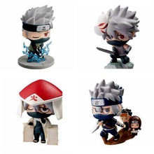 1 pcs Cartoon Naruto Kakashi 6 Kinds Of Style Cute Ninja PVC Model Anime Collection Statue Figure Kid Gift Toy
