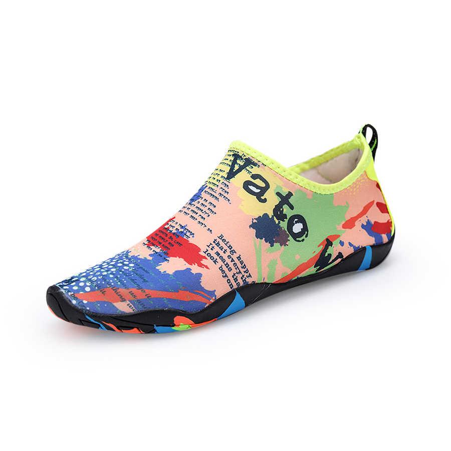 Boyut 28-46 Unisex Ayakkabı Yüzme Ayakkabı Çabuk Kuruyan Aqua Ayakkabı ve çocuk su ayakkabısı zapatos de mujer plaj erkek ayakkabısı