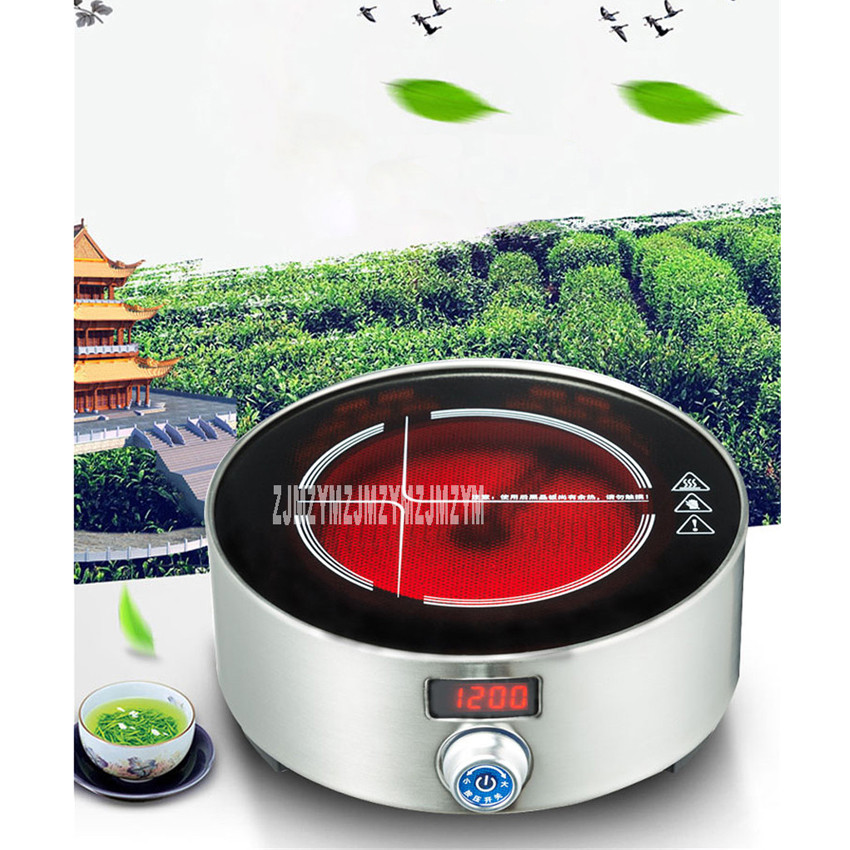 XM-121 Intelligent electric ceramic furnace tea stove household mini small tea oven light oven electric ceramic stove 220V/ 800W new electric magnetic induction cooker household special waterproof oven mini small hot pot stove kitchen cooktop 220v ca2007g