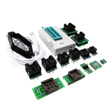 TL866II Plus tl866 Universal minipro Programmer ICSP Support FLASH\EEPROM\MCU SOP\PLCC\TSOP +13 adapters tl866