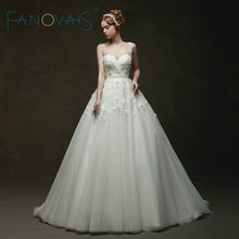 Vintage Tül Gelinlik balo elbisesi Dantel gelinlikler Vestido De Novia Robe De Mariage Kristal Kraliyet Gelinlik 2019
