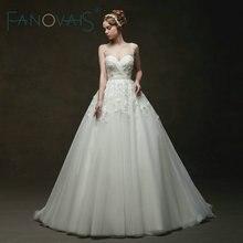 Vintage Tulle Trouwjurken Baljurken Lace Bruidsjurken Vestido De Novia Robe De Mariage Crystal Royal Trouwjurken 2019
