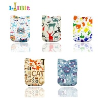 LilBit 5pcs waterproof Adjustable Baby Cloth Nappy With 5 microfiber inserts or Bamboo Charcoal Inserts
