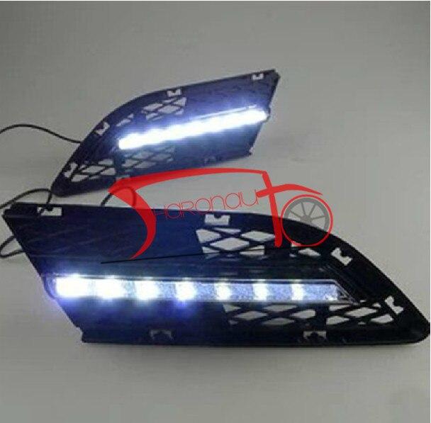 High Power LED Daytime Running Lights For BMW E90 LCI 3-Series Sedan 15W 2009-12 high quality light high power led daytime running lights for bmw e90 lci 3 series sedan 15w 2009 2012 freeshipping