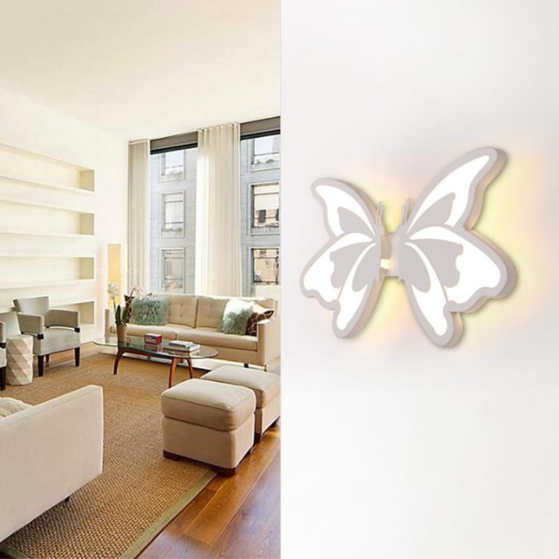 US $40.42 53% OFF Zeitgenössische Acryl LED Wand Licht schmetterling wand  lampen Für Badezimmer Schlafzimmer Wand Leuchte-in LED-Innenwandleuchten  aus ...