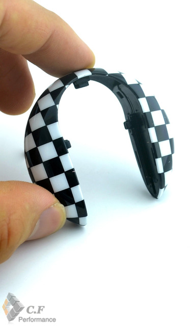 1 ШТ. Черный/Белый Клетчатый Ключа Автомобиля Седан Чехол для Mini Cooper F56 F55 Ключа Автомобиля Футляр 214bw