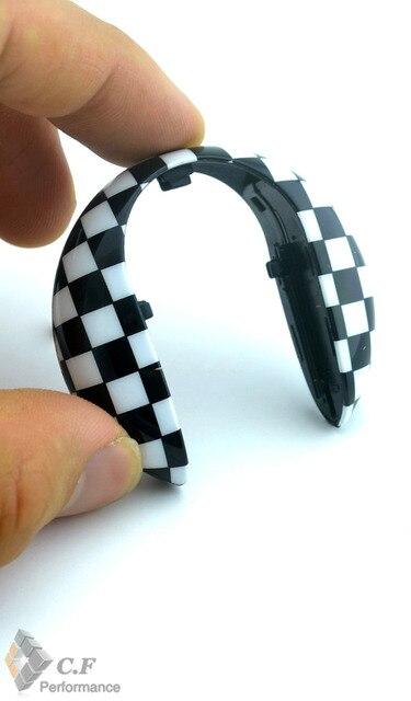 1PC Black/White Checkered Car Key Hardtop Case for Mini Cooper F55 F56 Car Key Hard Case 214bw