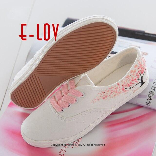 E-LOV Special Pink Leaf Tree Pattern Platform Canvas