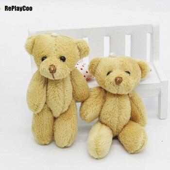 100PCS/LOT Mini Teddy Bear Stuffed Plush Toys 6cm Small Bear Stuffed Toys pelucia Pendant Kids Birthday Gift Party Decor 01201