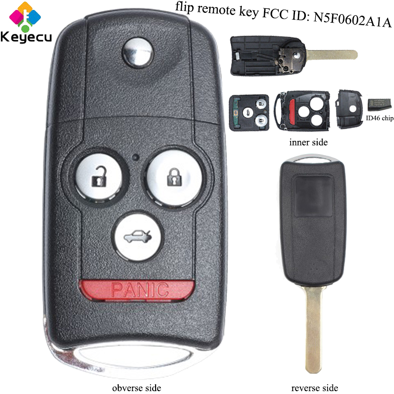 KEYECU Replacement Remote Car Key 3+1/ 4 Buttons & 313