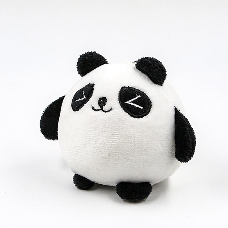 2 Kinds Panda Plush Animals Doll Toys Small Size Pendant Plush Toys Key Chain Ring Pendant Plush Toys Kids Gift