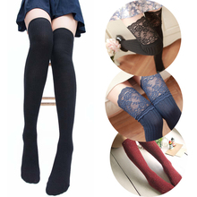 Women's Stockings Socks Sexy Warm Thigh High Over The Knee Socks Long Cotton Stockings for Girls Ladies Women Medias de mujer стоимость