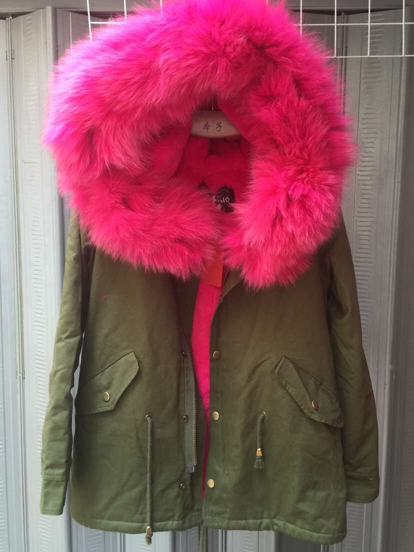 Popular Fur Hood Bomber Jacket-Buy Cheap Fur Hood Bomber Jacket ...