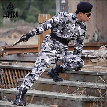 Military Uniform Men's Clothing Men Tactical Camouflage Army Combat Tactical Working Army Suit Camouflage Jacket + Pants S-4XL