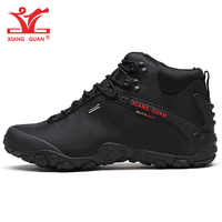 XIANG GUAN homme chaussures de randonnée hommes noir Trekking bottes coupe moyenne respirant sport escalade Camping en plein air Trail marche espadrille