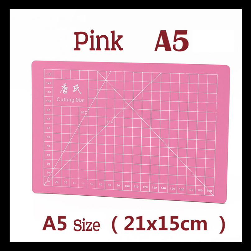 Pvc paper cutting mat  A5 self healing cutting mat Pink Patchwork tools craft cutting board cutting mats for quilting