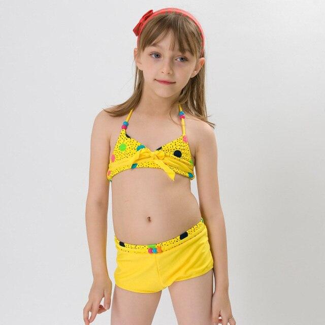 Hiheart 2015 marca niña bebé del traje de baño Halter