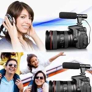 Image 2 - Универсальный внешний стерео микрофон 3,5 мм для Canon Nikon DSLR Camera DV Camcorder MIC 01 SLR Camera
