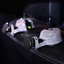 1 шт. Кристалл Diamante заднем сиденье автомобиля крючки Вешалки Организатор Многофункциональный мобильный телефон кронштейн авто подголовник крепление для хранения сумки