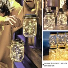 2PCS LED Fairy Light Solar Cap String Lights Garden Christmas Indoor Decor Led Accessories Wedding